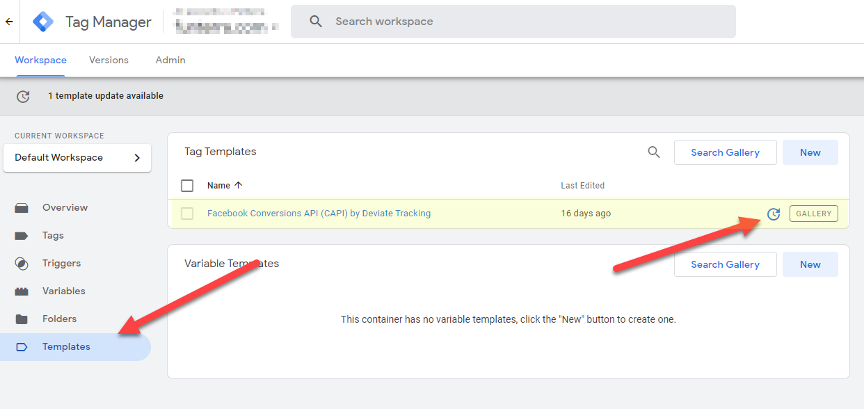 Updating Deviate Tracking GTM template